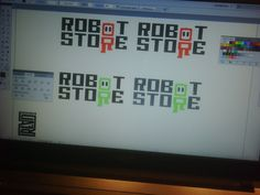 The RobotStore logo while being developed.