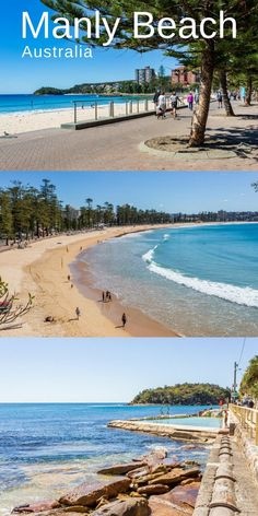 When visiting Sydney Australia enjoy a leisurely hike around Manly Beach and the surrounding community with gorgeous beaches and magnificent views of the Pacific from the Manly Scenic Walkway Manly Beach Australia, Manly Beach Sydney, Melbourne Australia, Australia Travel, Places Around The World, Travel Around The World, Around The Worlds, Best Vacation Spots, Enjoy Your Vacation