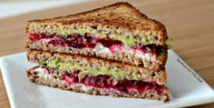Grilled Avocado, Cranberry & Goat Cheese Sandwich