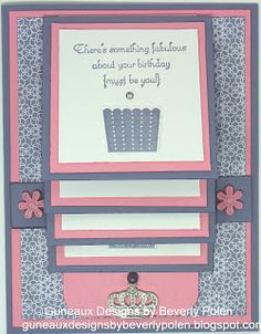 Guneaux Designs by Beverly Polen: How to Make a Waterfall Card Tutorial