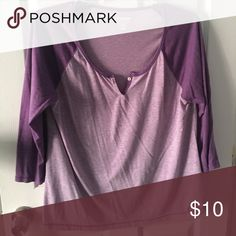 Old navy top Vintage old navy top 3/4 sleeve purple Old Navy Tops