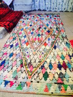 Gorgeous Boucherouite rug  contact taib@potofrugs.com