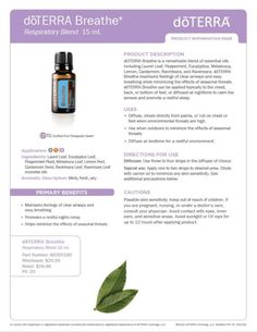 doterra breathe essential oil uses
