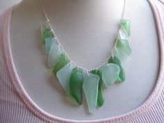 sea glass necklace - want to make one with the beach glass i've found @ lake michigan...