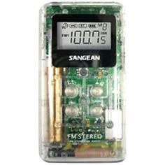 Sangean Pocket Am And Fm Digital Radio (clear)