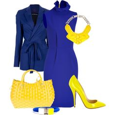 Yellow N Blue Created By Marufah Chavoos On Polyvore