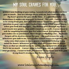 Love Quotes And Sayings – Need To Feel Love