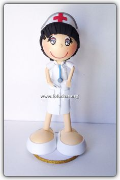 Handmade Nurse fofucha Doll. Perfect keepsake for a nurse graduate. She stands 12 inches tall. Can be customized. She is made using foam sheets.To order visit fofuchas.org  or email info@fofuchas.org #nurse #graduation #fofuchas
