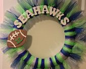 Items similar to Seattle Seahawks Tulle Wreath on Etsy