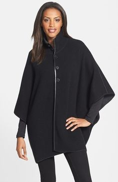 Nordstrom Collection Reversible Double Knit Cashmere Cape | Nordstrom