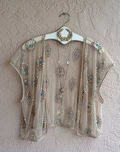 Romantic sheer beaded nude mesh great gatsby flapper by BohoAngels, $120.00
