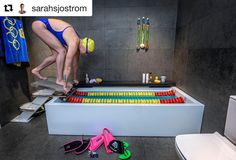 One of my favorite pictures of one of my favorite swimmers #Repost @sarahsjostrom Short course training this morning by @jackolympics @diweekend #sarahfärdigagå