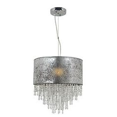 Nave Single Silver Deco Pendant Light A Drum Pendant, Drum Chandelier, Lighting Sale, Fancy, Glow, Chrome, Bronze, Ceiling Lights, Deco