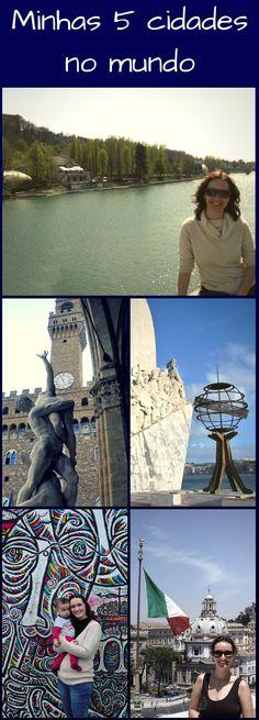 Mais uma blogagem coletiva, desta vez com as 5 minhas cidades preferidas no mundo. Como é algo muito difícil, decidi listar as minhas 5 cidades no mundo: Roma, Lisboa, Florença, Turim e Berlim.
