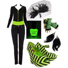 Black & Green #2, created by randomlylogical on Polyvore