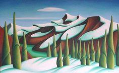dana irving Landscape Art, Landscape Paintings, Landscapes, Emily Carr, Mountain Art, Impressionist Art, Art Sketches, Sketching, Whimsical