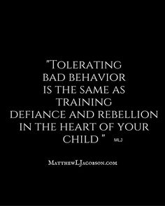 Keep them on track and in line. It teaches discipline and respect. Quotes For Kids, Great Quotes, Quotes To Live By, Life Quotes, Inspirational Quotes, Parenting Quotes, Parenting Advice, Kids And Parenting, Train Up A Child