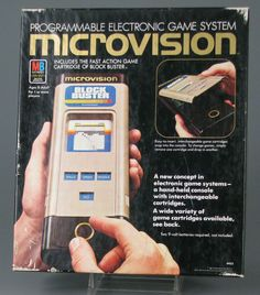 Microvision was the very first handheld game console that used interchangeable cartridges, by the Milton Bradley Company in November 1979. It was designed by Jay Smith, the engineer who would later design the Vectrex gaming console.