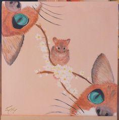 Blissful ignorance 40x40 cm canvas acrylic paint