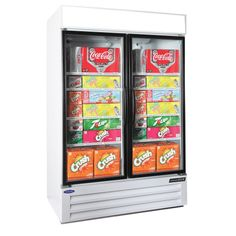 Nor-Lake 2 Glass Hinge Door Refrigerator Merchandiser (NLGRP48-HG-W)