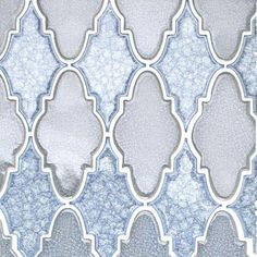 Ivy Hill Tile Roman Selection Iced Blue Lantern Glass Mosaic Tile - 3 in. x 6 in. Tile - The Home Depot Splashback Tiles, Blue Backsplash, Kitchen Backsplash, Backsplash Ideas, Kitchen Cabinets, Tile Ideas, Ceramic Mosaic Tile, Mosaic Glass, Patterned Wall Tiles