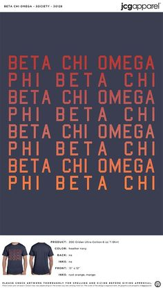 Beta Chi Omega Society Shirt #beta #chi #omega #society #shirt #Letters #fun Custom Design Shirts, Shirt Designs, Fall Designs, Sorority And Fraternity, Chi Omega, Colorful Shirts, How To Get, Letters, Fun