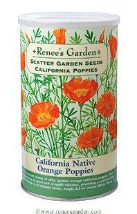 Renee's Garden Seeds Scatter Gardens: Carefree Wildflowers, California Poppies    Beautiful seed packet art