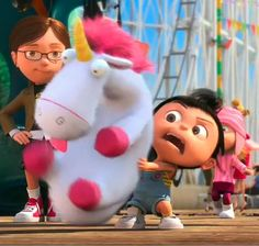 Agnes from Despicable Me. Its so fluffy!!!