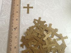 Handmade  paper punches 50 crosses  silver by PaperCraftingByMandy, $3.50