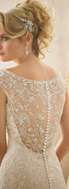 Beautiful Lace Back on a Mori Lee bridal gown www.TheBridesShoppe.com