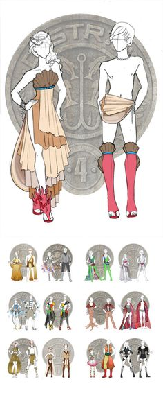 Hunger Games Chariot Outfits by ~Windnstorm on deviantART