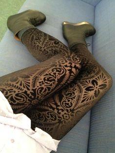 Revenge of the Burned Velvet Leggings | Black Milk Clothing.