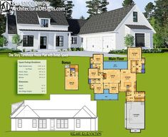 Architectural Designs Farmhouse House Plan 510010WDY gives you over 2,600 square feet of heated living space with 4 beds plus a bonus room over the garage with a full bath. Ready when you are. Where do YOU want to build?