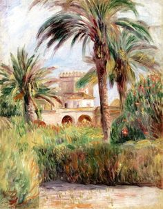 The Jardin d'Essai in Algiers / Pierre Auguste Renoir - 1882