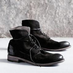 INK for men.  #124shoes #inkshoes #blackboots #mensboots #nubuk #italianshoes #madeinitaly #artisan