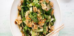 Salát pak choi s krutonky