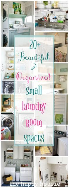 Beautifully Organized Small Laundry Rooms - Love these ideas, so much inspiration for my small laundry room!