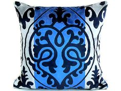 Velvet Damask throw pillow cover 20x20  Luxe accent by SABDECO