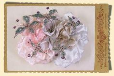 silk floral head piece so pretty
