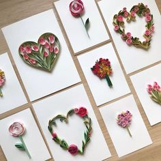 Quilling heart and flowers Arte Quilling, Paper Quilling Cards, Paper Quilling Tutorial, Paper Quilling Flowers, Paper Quilling Patterns, Quilled Paper Art, Quilling Craft, Paper Crafts Origami, Quilling Ideas