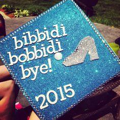 My Disney Cinderella themed graduation cap! Had so much fun making it :)