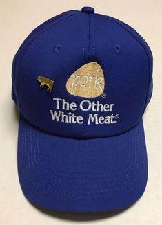 2b45dd5495f Vtg Pork Hat The Other White Meat Baseball Cap Pig Hog Des Moines IA Made  in · White MeatCool HatsPorkMen s ...