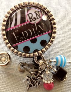 Nurse ID Badge Reel Personalized Silver Pendant  Rn by buttonit, $19.00