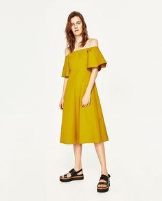 bridesmaid - Image 1 of OFF-THE-SHOULDER MIDI DRESS from Zara