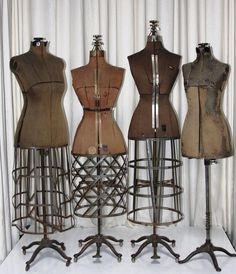 PGM custom made Antique Vintage style dress forms, also has many different kind vintage dress form collection. If you interest, call PGM Industry Grade double function Dress Forms for fashion design draping, fashion education Look Vintage, Vintage Style Dresses, Vintage Outfits, Vintage Fashion, Vintage Dress Forms, Vintage Stuff, Vintage Mannequin, Dress Form Mannequin, Home Decor