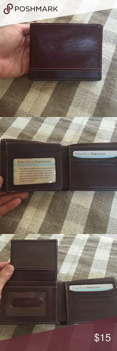 Perry Ellis Portfolio brown leather men's wallet Brand new Perry Ellis wallet. Gorgeous Perry Ellis Accessories