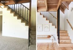 How to Design a Quiet, Neutral Yet Exciting Living Room - Emily Henderson #beforeandafter #livingroomdesign Stairs In Living Room, Narrow Living Room, House Stairs, Living Room Decor, Loft House, Farm House, Villa, Paint Colors For Living Room, Patio