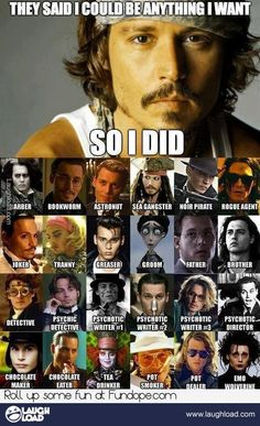 And more.  Johnny Depp.