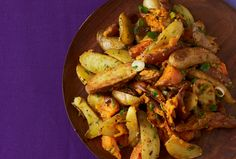 Warm Fingerling Potato Salad  - this is a great time of year for a warm potato salad, might make it for Superbowl.