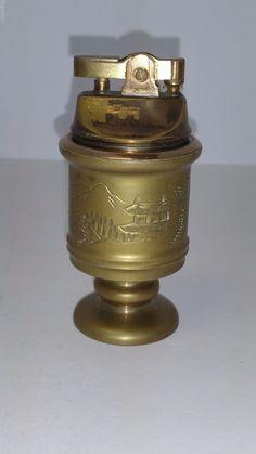 Vintage Colibri 8800 Silver Pipe Lighter Empty Colibri